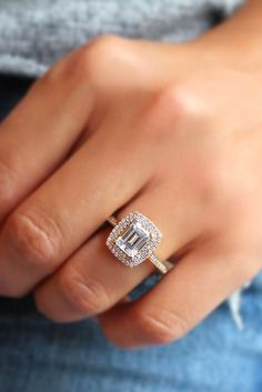 Eye-Catching Emerald Cut Engagement Rings ★ emerald cut rings in rose gold 1 Emerald Cut Engagement, Classic Engagement Rings, Morganite Engagement, Rose Gold Engagement Ring, Engagement Ring Settings, Wedding Engagement, Morganite Ring, Bridal Rings, Wedding Ring Bands