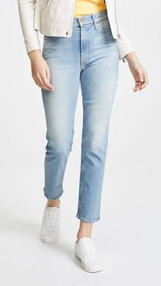 MOTHER The Dazzler Ankle Jeans Cut And Style, Simple Style, San Francisco Travel Guide, Mother Denim, Suede Jacket, Ankle Jeans, How To Take Photos, Stretch Jeans, Mom Jeans