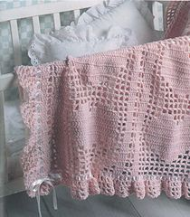 Craft Passions: Hearts and Bows blanket free crochet pattern