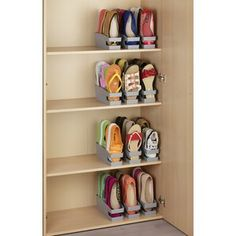 Shoe Storage Accessories, Diy Shoe Storage, Diy Shoe Rack, Closet Storage, Bedroom Storage, Shoe Storage Ideas For Small Spaces, Cord Storage, Shoe Racks, Diy Shoe Organizer