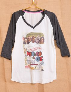 The Wizard of Oz 1939 Film Poster Pop Indie Punk Tattoo Vintage Lady Women T shirt V Neck Size S M L on Etsy, $18.00