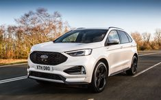 The 2018 facelift for the Ford Edge SUV offers a new twin-turbo diesel engine, new sporty ST-Line option, but no petrol engine availability in the UK. Ford Mustang Bullitt, Nuevo Ford Mustang, Ford Fusion, Ford Edge Suv, Europe Car, Motor Diesel, Best New Cars, Car Purchase, Cars Uk
