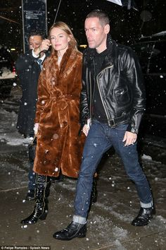 Satin Bomber Jacket, Faux Fur Jacket, Kate Bosworth Style, Winter Chic, Winter Style, Jacket Pins, Black Heel Boots, Her Style