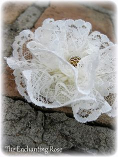 The Enchanting Rose: Lovely Lace Ornaments