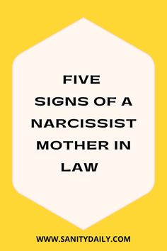 How to spot a narcissistic mother in law? Narcissistic Mother In Law, Signs Of A Narcissist