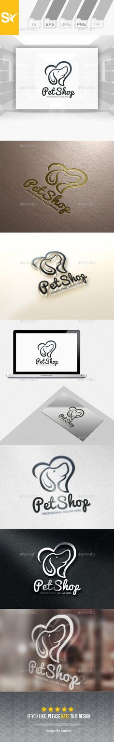 Pet Shop Logo  EPS Template • Download ↓ https://graphicriver.net/item/pet-shop-logo/12935972?ref=pxcr