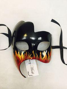 """Карнавальная маска """" Fire"""" – купить в интернет-магазине на Ярмарке Мастеров с доставкой"""