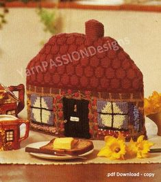 pdf pattern at a sale price English Chocolate, Chocolate Box, Knitting Patterns Free, Free Knitting, Tea Cozy, Vintage Knitting, Vintage Patterns, Embroidery Patterns, Cosy