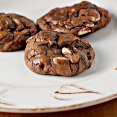 Recipe: Chocolate Brownie Cookies with White Chocolate and Roasted Macadamia Nuts {joy the baker spotlight}