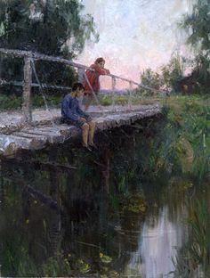 Children Fishing, 2001 - Alexander Kosnichev