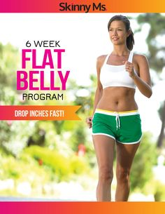 6 Week Flat Belly Program - get your flat tummy before summer!  #flatbellyworkouts #fitnessprogram #weightloss