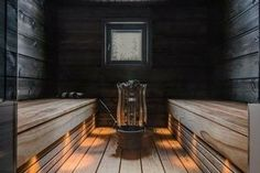 Good sauna designs and plans make your sauna project perfect. When you decide to design your own sauna, it is important to consider several factors. Heaters are the heart and soul of any sauna. Sauna Lights, Wood Burning Heaters, Cafe Japan, Finnish Sauna, Swedish Sauna, Outdoor Sauna, Sauna Design, Spa Rooms, Sauna Room