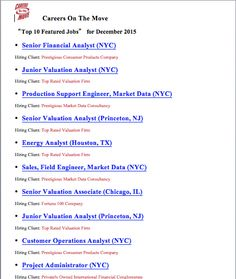 NovemberS Top  Featured Job Postings Are Here Wallstreetjobs