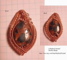 Perfectly Twisted Handmade Wire Wrapped Beaded and Gemstone Jewelry: FREE Visual Tutorial, Reversible Wire Wrapped Pendant, Wire Weaved Jewelry, https://www.etsy.com/shop/PerfectlyTwisted