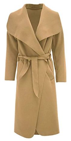 New Trending Outerwear: Thever Women Ladies Celb Long Sleeve Wool Wrapped up Draped Belted Coat Cape (One SZ(6-12), Camel). Special Offer: $10.00 amazon.com Women Ladies long sleeve celebrity inspirited wool wrapped up draped coat cape, cardigan with detachable belt Celebrity Kim Kardashian Length Approx Shoulder to Hem: 117cm/46inch Long Sleeve, Open Front, Detachable Belt, Wrapped Up, Draped Waterfall Coat...
