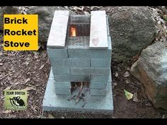 Mom with a PREP - Building a Brick Rocket Stove for your backyard gives you an alterntaive cooking source just in case. This is a quick and easy project to do this weekend! Rocket Stove Design, Diy Rocket Stove, Rocket Stoves, Survival Prepping, Survival Skills, Outdoor Stove, Bushcraft Gear, Backyard Landscaping, Backyard Ideas