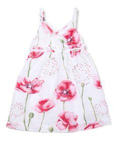 Look at this #zulilyfind! White Poppy Dress - Toddler & Girls #zulilyfinds