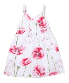 Love this White Poppy Dress - Infant, Toddler & Girls on #zulily! #zulilyfinds