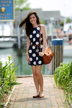 Dress by Island Company, flats by Madewell, bag by Frank Clegg, belt and gold bangles by J.Crew. (May 30, 2012)