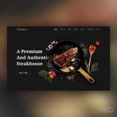 Banner Web Design, Layout Design, Website Design Layout, Homepage Design, Wordpress Website Design, Web Layout, Web Design Trends, Food Web Design, Web Design Websites