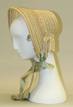 Bonnet Date: 1849–51 Culture: American Medium: silk