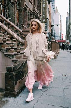 ph Radek Świątkowski shoes Adidas / dress Agnieszka Maciejak / coat Pinko / jacket H&M / glasses Chanel / jewellery Zozo