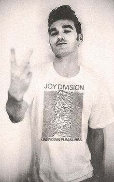 Morrissey in a Joy Division #T-shirt