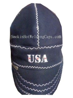 Photo of Navy Blue USA Custom Heavy Duty Welding Cap f12d848fd85a