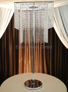 2-Tier Square Crystal Chandelier Centerpiece - Giant 49 Tall! - Event Decor Direct - North