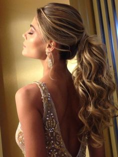 DIY Ponytail Ideas You're Totally Going to Want to 2019 DIY Ponytail Ideas You're Totally Going to Want to 2019 Adorable Ponytail Hairstyles; Classic Ponytail For Long Hair; Dutch Braids To A High Pony;High Wavy Pony For Shoulder Length Hair Wavy Wedding Hair, Classic Wedding Hair, Wedding Hairstyles For Long Hair, Wedding Hair And Makeup, Braided Hairstyles, Ponytail Wedding Hair, Ponytail Hairstyles For Prom, Ball Hairstyles, Long Prom Hair