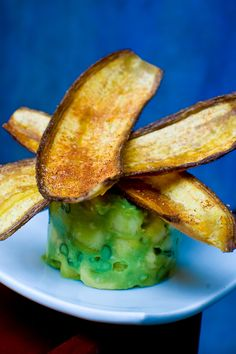Guacamole Cubano made with pineapple and topped with plantains | from Cuba Libre Restaurant https://www.diningin.com/a-la-carte/restaurant-menu/cuba-libre-restaurant---rum-bar/philadelphia/19104/1100079