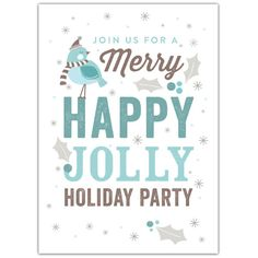 Wintry Happy Jolly Invite   2014 Holiday Collection #InkCards