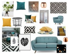 Finally decided on the main elements, colours, patterns and textures for the liv. Finally decided on the main elements, colours, patterns and textures for the living room and made t Teal Grey Living Room, Mustard Living Rooms, Copper Living Room, Living Pequeños, Teal Rooms, Living Room Decor Colors, Living Room Color Schemes, Living Room Sofa, Room Colors