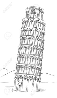 leaning tower of pisa drawing - Google Search