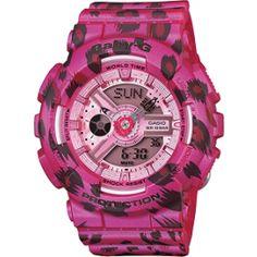 Casio Baby-G Women's Pink Leopard Pattern Quartz Watches Sport Watches, Watches For Men, Wrist Watches, Swatch, Digital Light, Pink Watch, Pink Leopard Print, Baby G, Casio G Shock