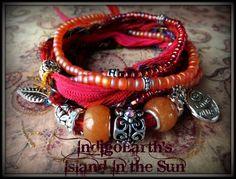 IndigoEarth's~ Island in the Sun~Gypsy Wrap Bracelet | IndigoEarth - Jewelry on ArtFire