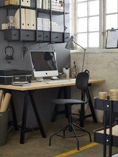 GERTON tafelblad | IKEA IKEAnl IKEAnederland designdroom inspiratie wooninspiratie interieur wooninterieur kinderkamer kind kids kinderen kamer bureau bureaustoel KULLABERG beuken zwart werkplek werkspot studeren werken studeerkamer