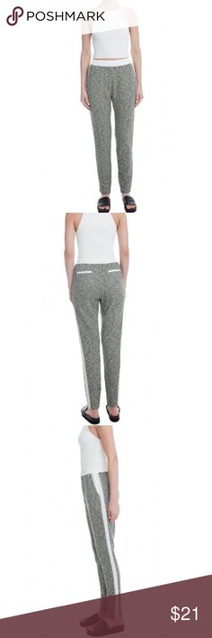 Lush olive grey sweatpants Grey with white strips and details. They run a size small Lush Pants Track Pants & Joggers