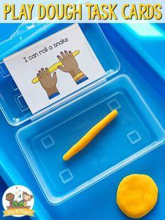 Printable Play Dough Task Cards for Preschool and Pre-K