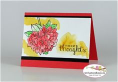 Stampin Up Best Thoughts for Stamping and Blogging Sketch #105, card by Sandi @ www.stampingwithsandi.com