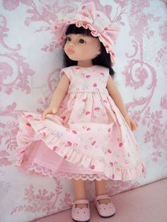 Robe Chapeau ET Culotte Compatible Poupées Paola Reina Little Darling Girl Doll Clothes, Doll Clothes Patterns, Girl Dolls, Doll Patterns, Baby Dolls, Pretty Dolls, Cute Dolls, Beautiful Dolls, American Girl Outfits