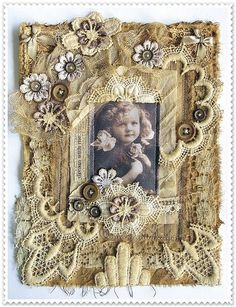 dream with me | fabric collage 6.3 x 8.7 ( 16 x 22 cm ) | saray-viola | Flickr