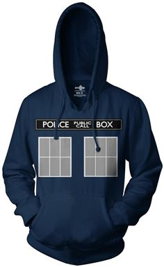 Doctor Who Be the TARDIS Hoodie and more fun TV Show Tees & Sweatshirts from OldSchoolTees.com