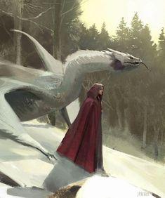 Manon Blackbeak and Abraxos | Throne of Glass... - Elven Forest