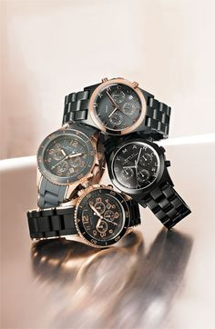 MARC BY MARC JACOBS: 'Rock' Chronograph Silicone Bracelet Watch What do you like better, black or grey (bottom two)?