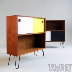 Small modernist storage units, manufactured in the 1960's in Denmark.