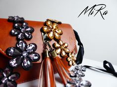 Brown Mystique bag with MiRage necklaces ( black, white and brown)  www.mirasstore.com