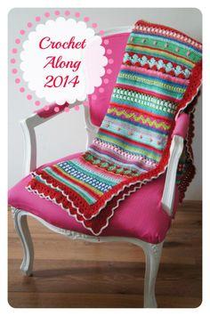 Mijn crochet along 2014 deken!