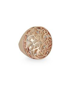 Look at this #zulilyfind! Amabel Designs Rose Gold & Crytal Filigree Circle Ring by Amabel Designs #zulilyfinds