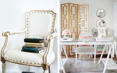 Get the Look: White & Gold Decor via For Chic Sake. #laylagrayce #gold #office